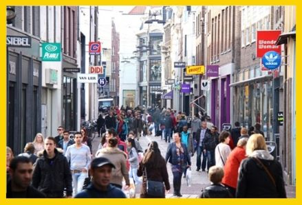 De binnenstad van Arnhem